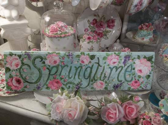(A Fresh Sign Of Spring) Handpainted Sign