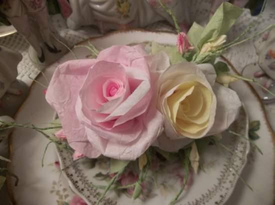 (Sunshine Ella) Handmade Paper Rose Clip