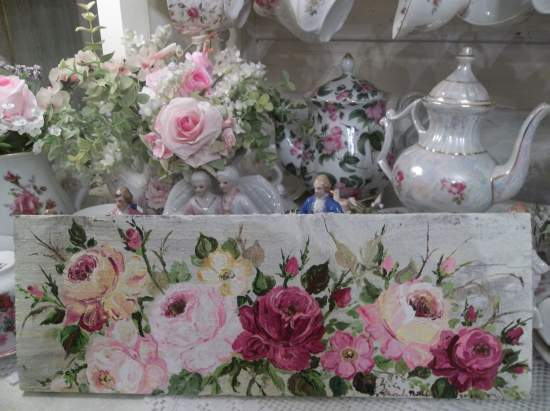 (The Fairest Of Roses) Handpainted Sign