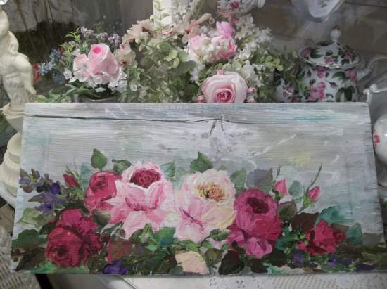 (Rose of Beulah)  Handpainted Sign