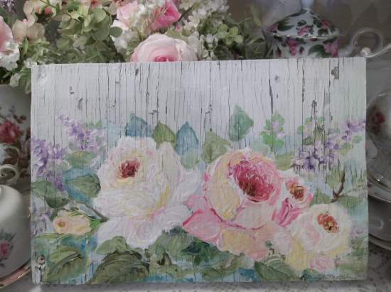 (Faded Elegance)  Handpainted Sign