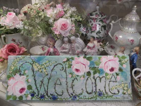 (Welcome to the Garden)  Handpainted Sign