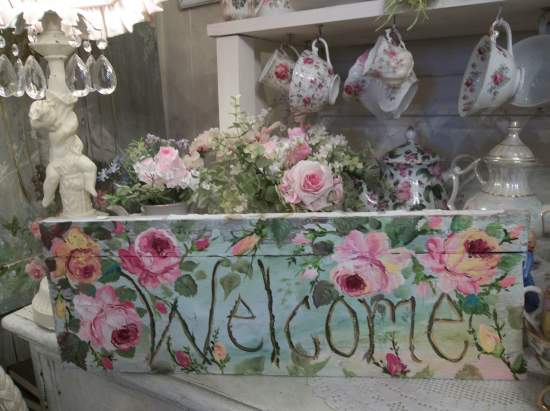 (Large Sized Welcome)  Handpainted Sign