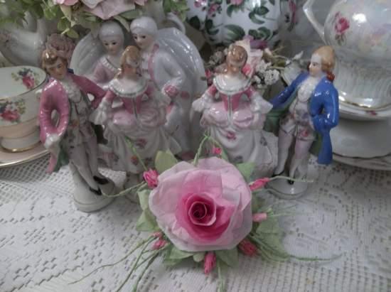 (Ceilia Rose) Handmade paper rose clip