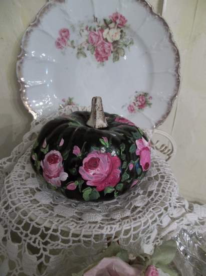 (Francine) Handpainted Fake Pumpkin