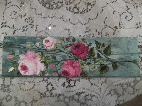 (Rambling Roses) Handpainted Sign