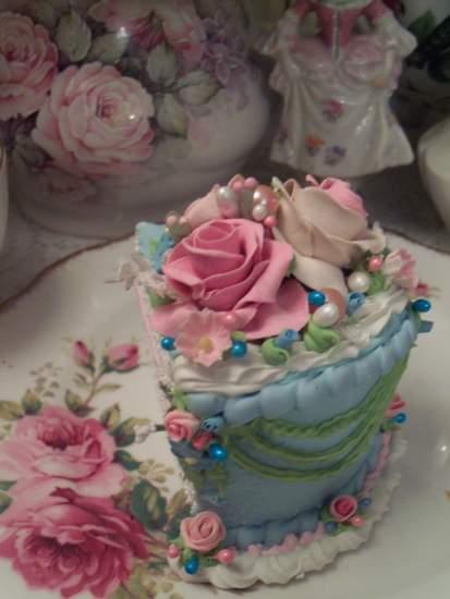 (Forget Me Not Blue) Fake Cake Slice