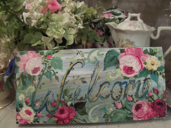 (Welcome Peace) Handpainted Sign