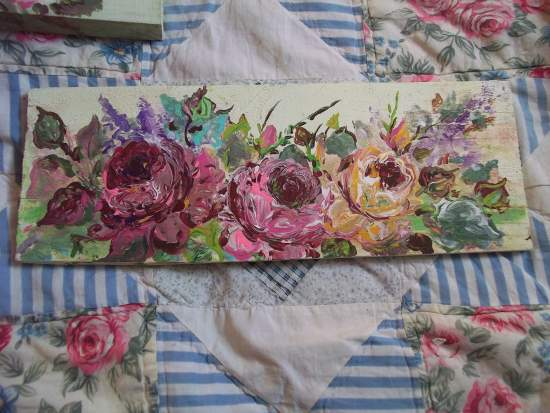 (SeptemberRoses) Handpainted Sign