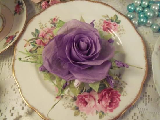 (Gladius) Handmade Paper Rose Clip