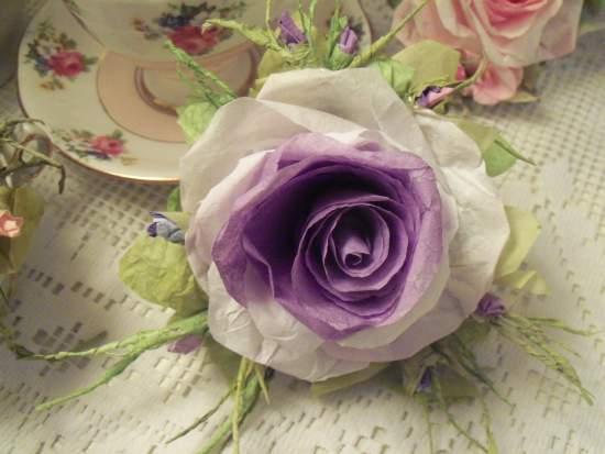 (Oprah) Handmade Paper Rose Clip