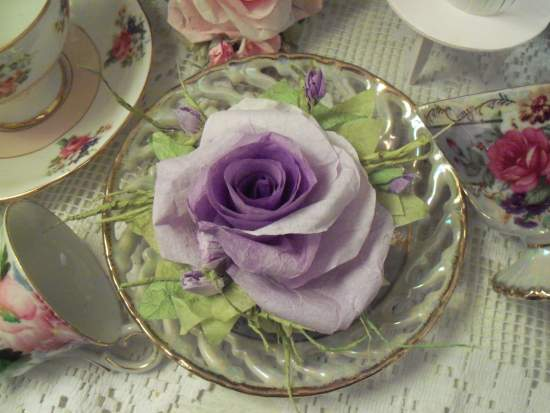 (Ina) Handmade Paper Rose Clip