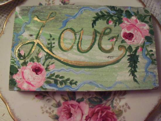 (Ferns Love) Handpainted Sign