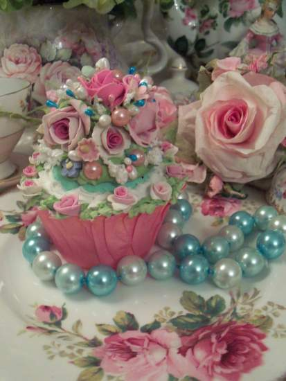(Seaside Rose) Fake Cupcake