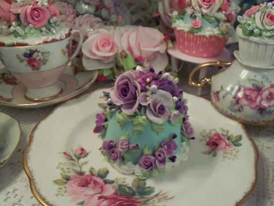 (Vivacious Violet)  Funky Junk Fake Cake