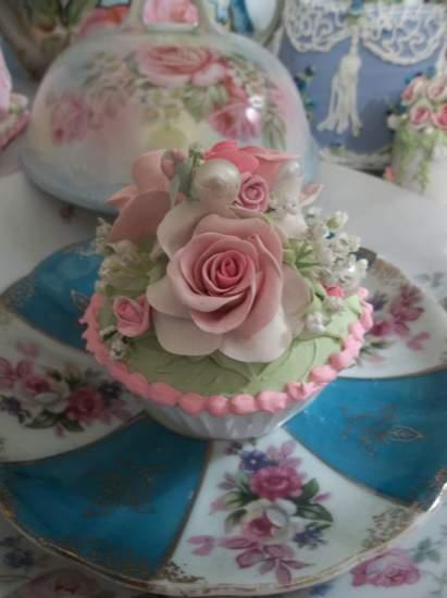 (Verda Rosa Cupcake) Fake Cupcake
