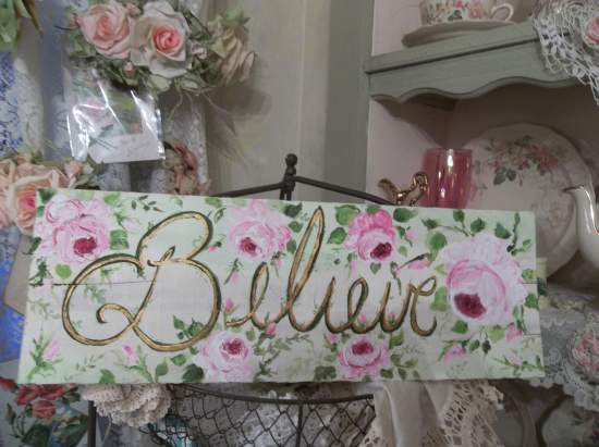 (Believe) Handpainted Sign