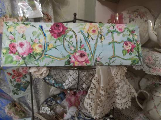 (Funky Love) Handpainted Sign