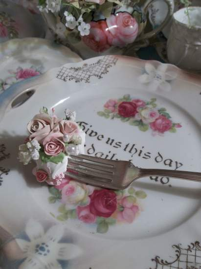(Ina) Vintage Fork, Bite Of Fake Cake