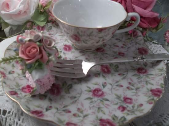 (Ella Rose) Decorated Vintage Fork, Bite Of Fake Cake