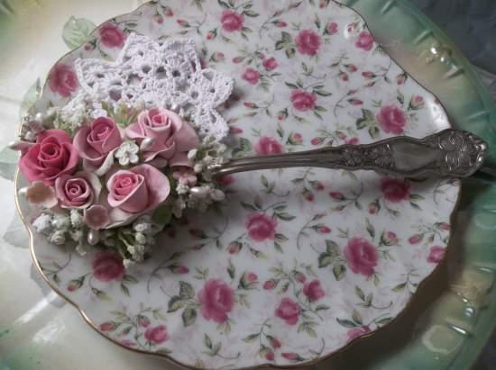 (Sabatha) Large Worn Decorated Tablespoon