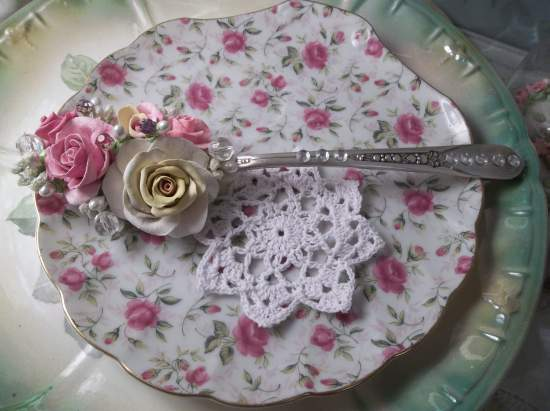 (Sallie) Vintage Serving Spoon Decoration