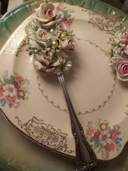 (Lacey Rose) Decorated Tablespoon