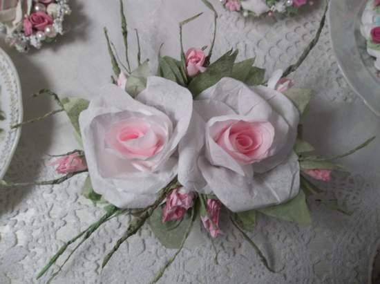 (Pretty One) Handmade Paper Rose Clip