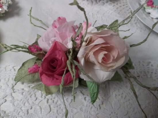 (Fairest) Handmade Paper Rose Clip