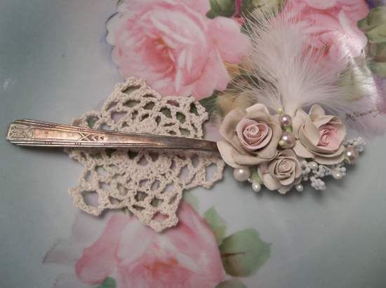 (Feather) Vintage Teaspoon Decoration