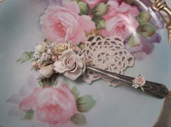 (Shelli) Vintage Teaspoon Decoration
