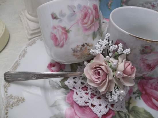 (Rose Ritz) Vintage Teaspoon Decoration