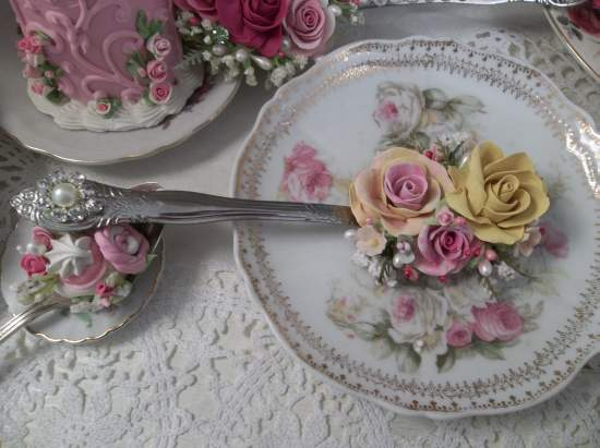 (Lola Rosa) Decorated Tablespoon New Spoon NOT Vintage