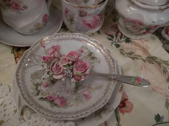 (Butterfly Beth) Vintage Teaspoon Decoration