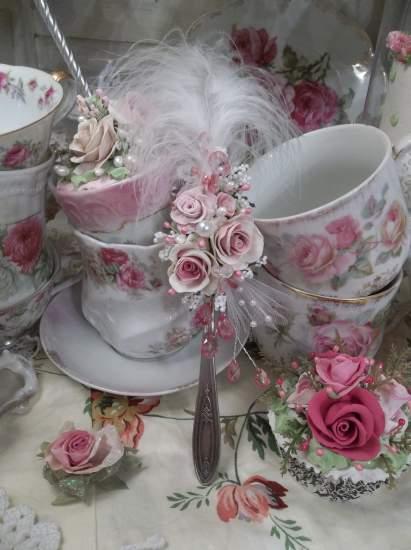 (Queenie Claudette) Vintage Teaspoon Decoration
