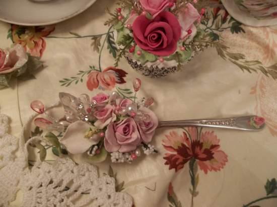 (Cala lillian) Vintage Teaspoon Decoration
