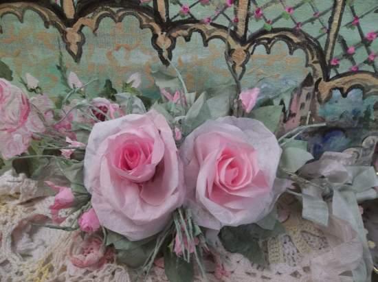 (Judy) Handmade Paper Rose Clip