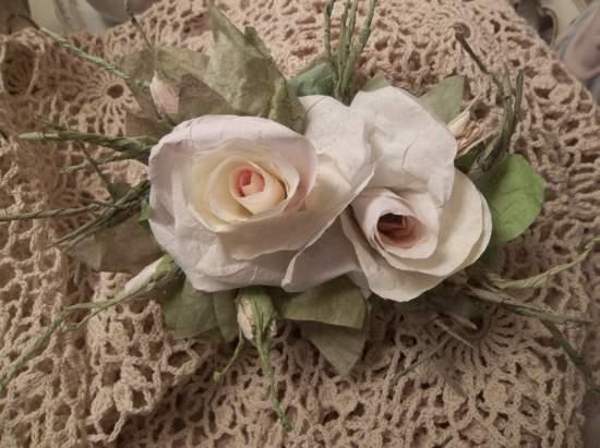 (Georgia) Handmade Paper Rose Clip