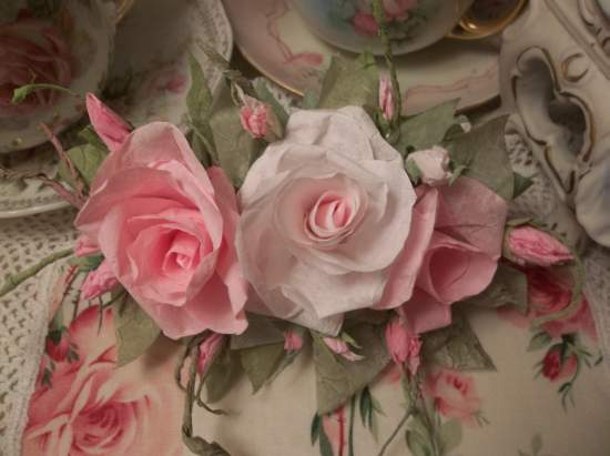 (Threesa) Handmade Paper Rose Clip