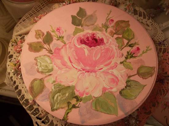 (Single Rose Plaque)  Handpainted Sign