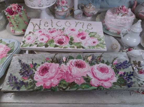 (Wild And Blooming) Handpainted Sign