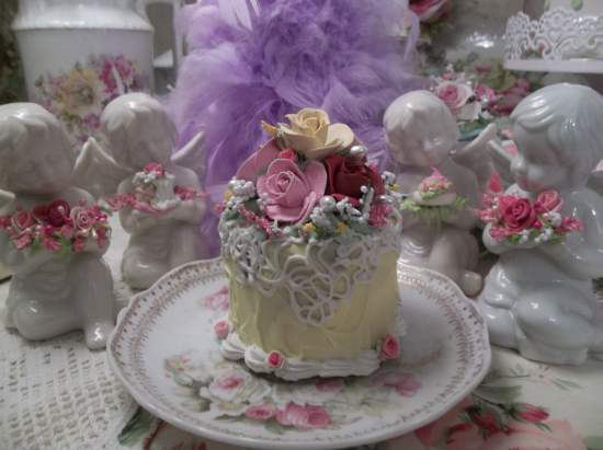 (Old Country Roses) Funky Junk Fake Cake