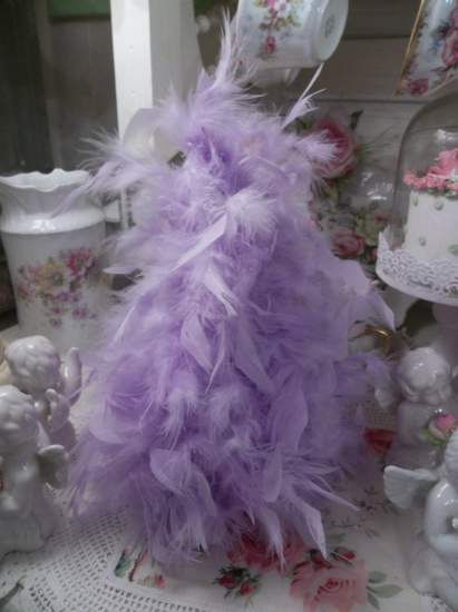 (DPurple Feather Tree) Feather Tree  Christmas  Decoration