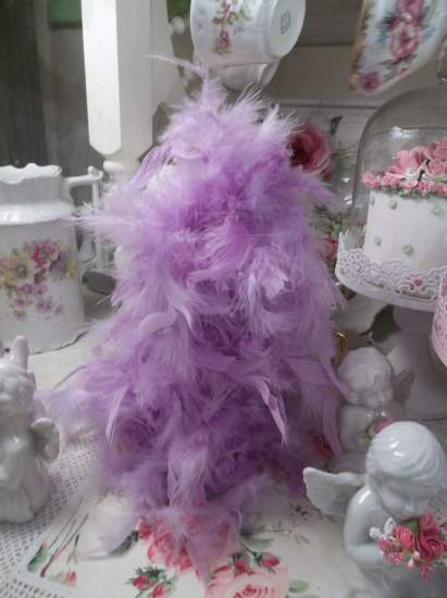 (FPink/Violet Feather Tree) Feather Tree Christmas Decoration