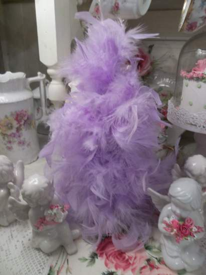 (HPurple Feather Tree) Feather Tree Christmas Decoration