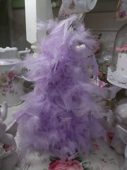 (IPurple Feather Tree) Feather Tree Christmas Decoration