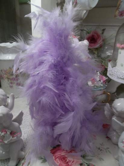 (JPurple Feather Tree) Feather Tree Christmas Decoration