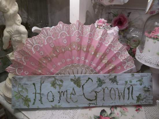 (Home Grown) Handpainted Sign, Home Grown Flowers, Produce Love