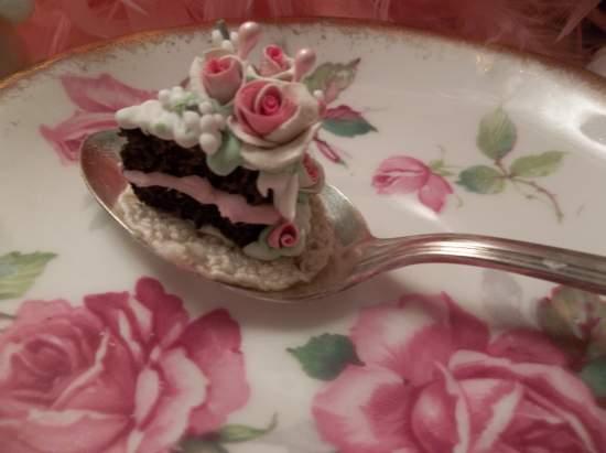 (Just A Bite Of Cake) Vintage Teaspoon Decoration