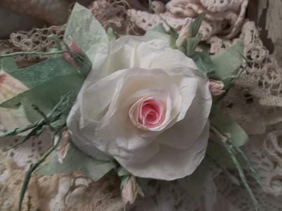 (Crissy) Handmade Paper Rose Clip